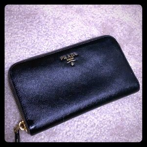 Authentic Prada Saffiano Zip Wallet